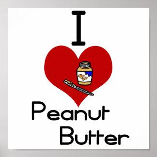 Mantequilla de cacahuete del amor-corazón I Póster