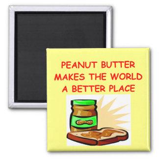 mantequilla de cacahuete imán cuadrado