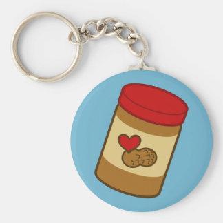 Mantequilla de cacahuete llavero redondo tipo pin