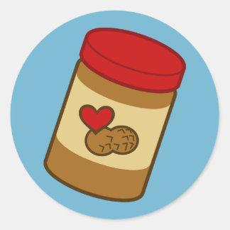 Mantequilla de cacahuete etiquetas redondas