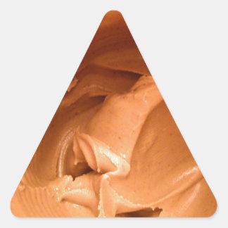 Mantequilla de cacahuete calcomanías de triangulos personalizadas