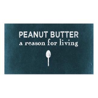 Mantequilla de cacahuete tarjeta de visita