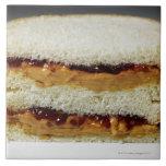Mantequilla de cacahuete y bocadillo de la jalea azulejos cerámicos