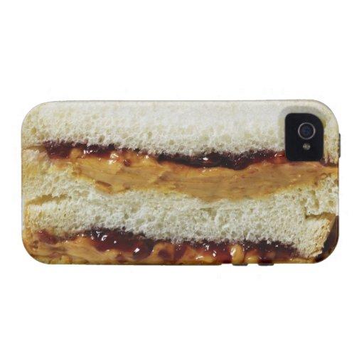 Mantequilla de cacahuete y bocadillo de la jalea vibe iPhone 4 fundas