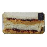 Mantequilla de cacahuete y bocadillo de la jalea iPhone 4 Case-Mate protector