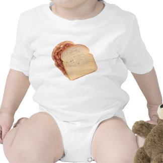 Mantequilla de cacahuete y bocadillo de la jalea traje de bebé