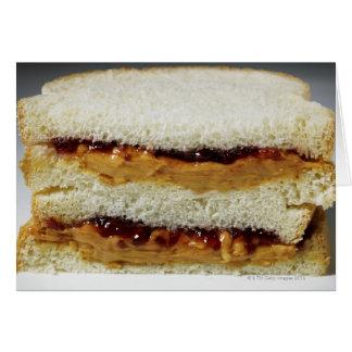 Mantequilla de cacahuete y bocadillo de la jalea tarjeta de felicitación