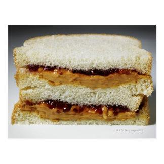 Mantequilla de cacahuete y bocadillo de la jalea tarjeta postal
