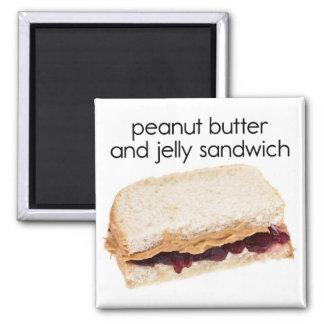 Mantequilla de cacahuete y imán del refrigerador d