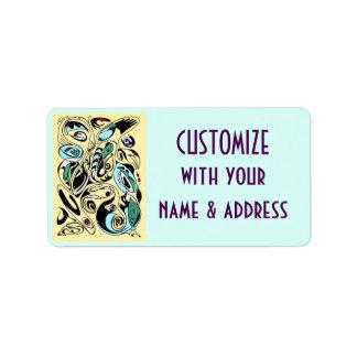 mantequilla del vaudevul etiquetas de dirección