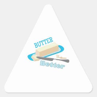 Mantequilla mejor pegatina triangular