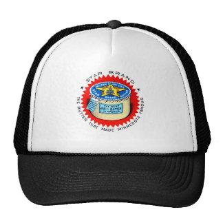 Mantequilla retra de la marca de la estrella del k gorras
