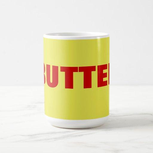mantequilla taza de café