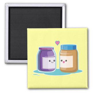 Mantequilla y jalea de cacahuete imanes para frigoríficos