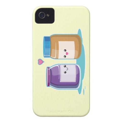 Mantequilla y jalea de cacahuete iPhone 4 Case-Mate cobertura