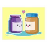Mantequilla y jalea de cacahuete postales