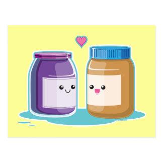Mantequilla y jalea de cacahuete tarjeta postal