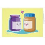 Mantequilla y jalea de cacahuete tarjetas