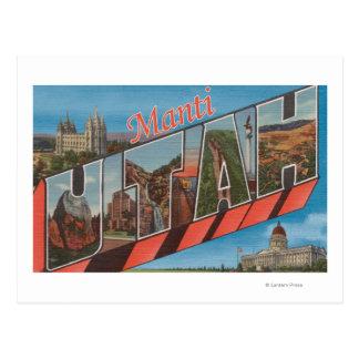 Manti, letra ScenesManti, UT de UtahLarge Postales