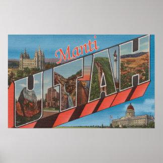 Manti, letra ScenesManti, UT de UtahLarge Póster
