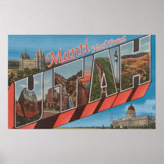 Manti Nat'l Forest, Utah - Large Letter Scenes Poster