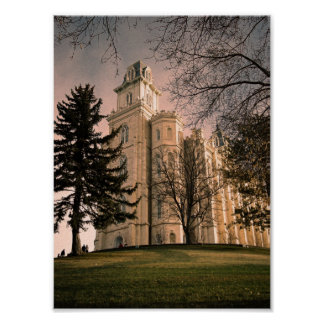 Manti, Utah LDS Temple Poster