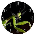 Mantid de rogación reloj redondo grande
