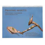 Mantidforum.net 2016 Praying Mantis Wall Calendar