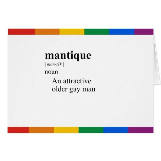 MANTIQUE GREETING CARD