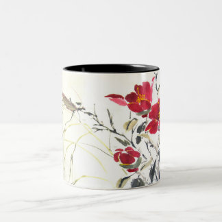 Mantis and Flowers Coffee Mug