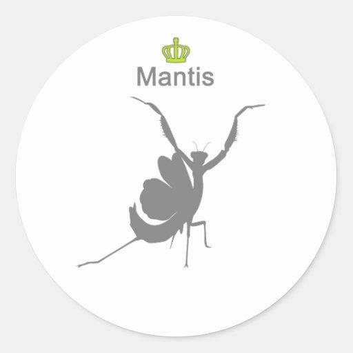 Mantis g5 pegatina redonda