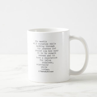 mantis classic white coffee mug