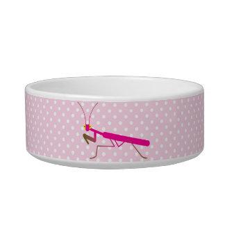 Mantis religiosa tazón para agua para gatos