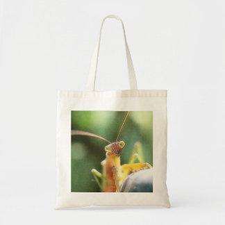 Mantis religiosa curiosa bolsa tela barata
