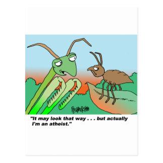 Mantis religiosa de Athiest Postales