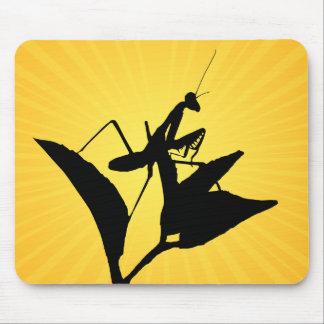 Mantis religiosa en una ramita con un Starburst Alfombrilla De Ratones