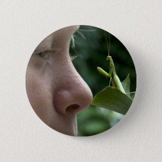 Mantis religiosa pinback button