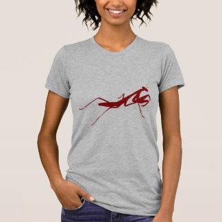 Mantis religiosa roja camisetas