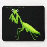 Mantis religiosa verde Mousepad del dibujo animado Tapete De Ratones