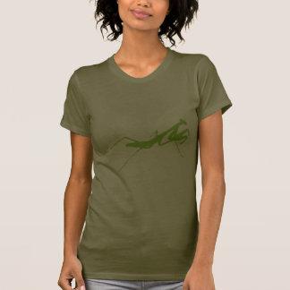 Mantis religiosa verde camisetas