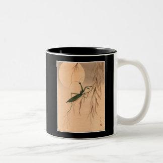 Mantis religiosa y los 1800s japoneses del arte C. Taza De Café