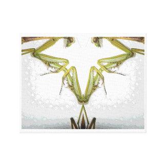 Mantis Sculpture 3-topographic version-by KLM Canvas Print