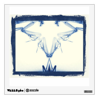Mantis Sculpture-blue version-by KLM Wall Decal