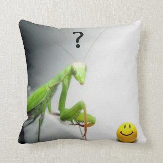 mantis...what? throw pillow