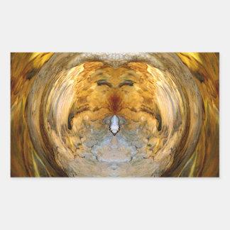 Mantle Disk Cut-out - Digital Artwork Rectangular Sticker