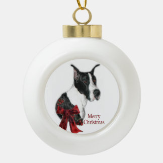 Mantle Great Dane Christmas Ceramic Ball Christmas Ornament