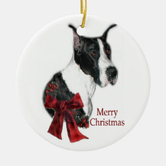 Mantle Great Dane Christmas Gifts Ornament