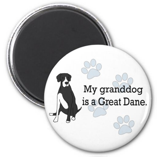 Mantle Great Dane Granddog 2 Inch Round Magnet