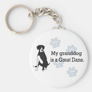 Mantle Great Dane Granddog Basic Round Button Keychain