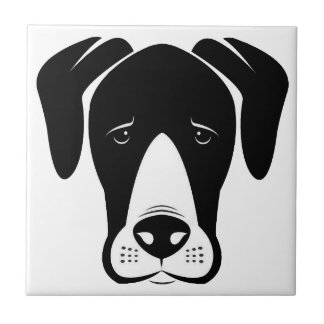 Mantle Great Danes Small Square Tile